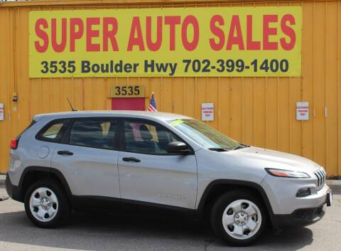 2014 Jeep Cherokee for sale at Super Auto Sales in Las Vegas NV