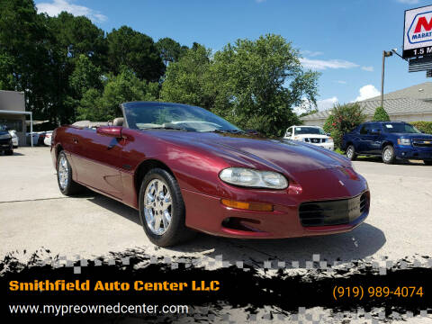 2002 Chevrolet Camaro for sale at Smithfield Auto Center LLC in Smithfield NC