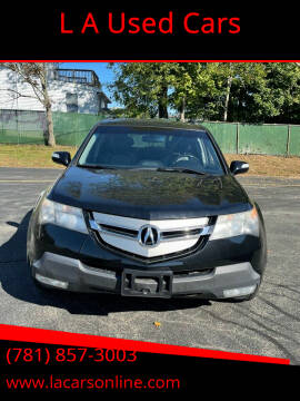 2008 Acura MDX for sale at L A Used Cars in Abington MA