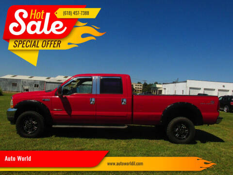 2004 Ford F-350 Super Duty for sale at Auto World in Carbondale IL