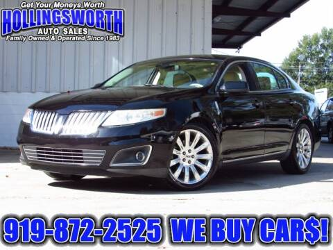 2011 Lincoln MKS for sale at Hollingsworth Auto Sales in Raleigh NC