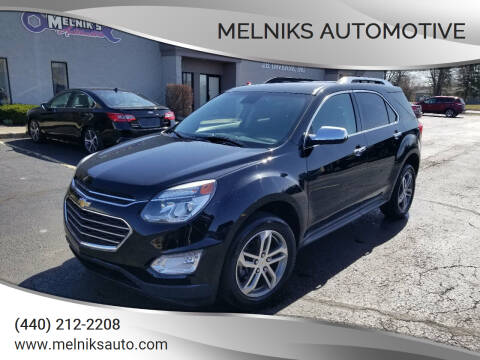 2016 Chevrolet Equinox for sale at Melniks Automotive in Berea OH