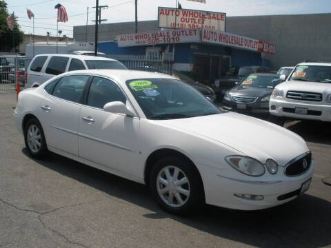 2006 Buick LaCrosse for sale at AUTO WHOLESALE OUTLET in North Hollywood CA