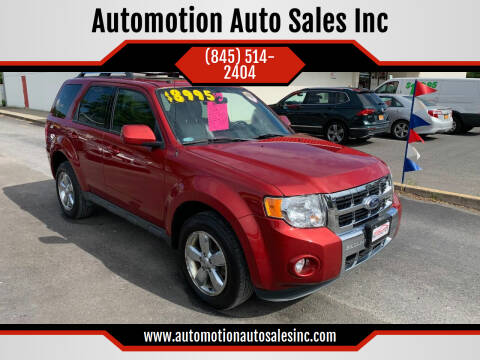 2012 Ford Escape for sale at Automotion Auto Sales Inc in Kingston NY