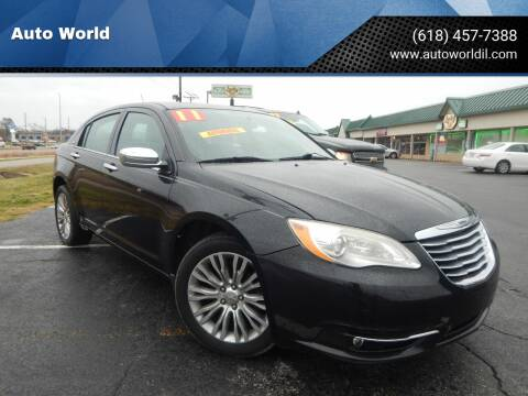 2011 Chrysler 200 for sale at Auto World in Carbondale IL
