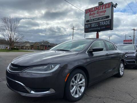 2017 Chrysler 200 for sale at Unlimited Auto Group in West Chester OH