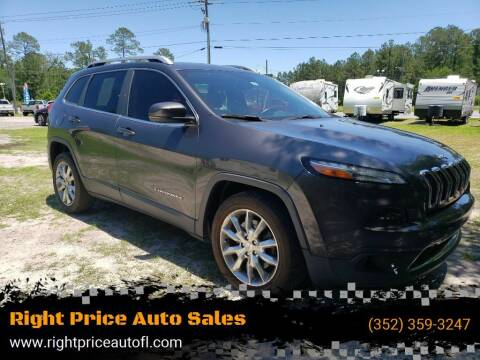 2015 Jeep Cherokee for sale at Right Price Auto Sales in Waldo FL