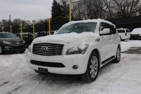 2014 Infiniti QX80 for sale at F & M AUTO SALES in Detroit MI