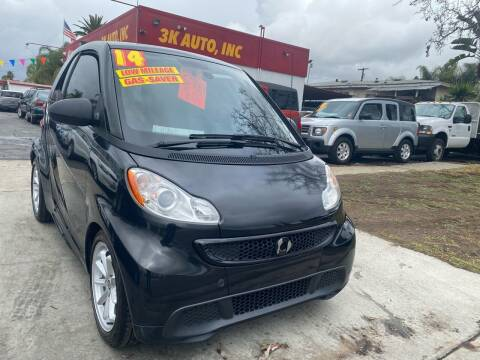 2014 Smart fortwo for sale at 3K Auto in Escondido CA