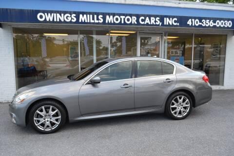 2013 Infiniti G37 Sedan for sale at Owings Mills Motor Cars in Owings Mills MD