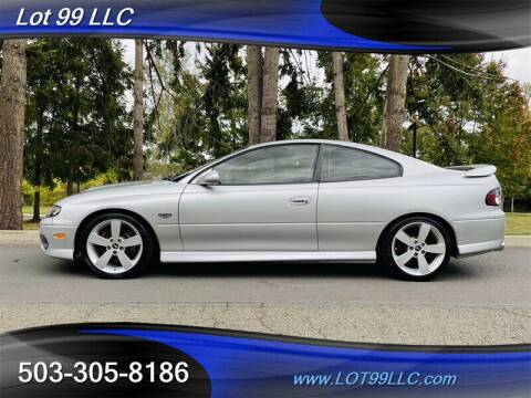 2006 Pontiac GTO for sale at LOT 99 LLC in Milwaukie OR