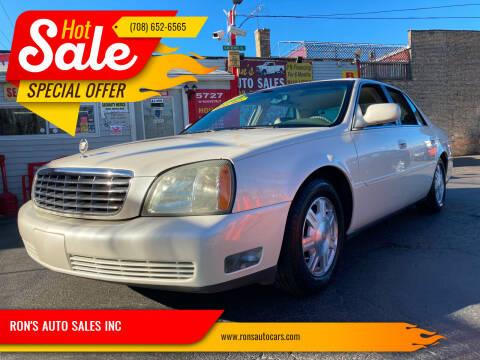 2003 Cadillac DeVille for sale at RON'S AUTO SALES INC in Cicero IL