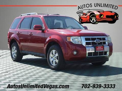 2011 Ford Escape for sale at Autos Unlimited in Las Vegas NV