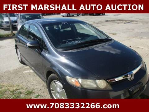 2007 Honda Civic for sale at First Marshall Auto Auction in Harvey IL