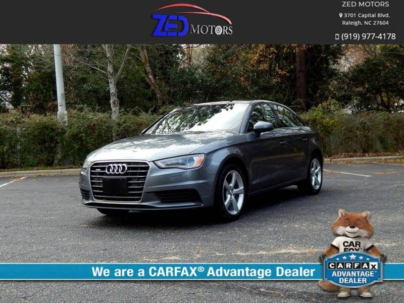 2015 Audi A3 for sale at Zed Motors in Raleigh NC