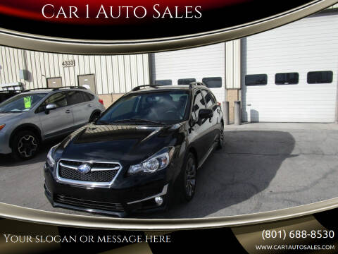 2015 Subaru Impreza for sale at Car 1 Auto Sales in Murray UT