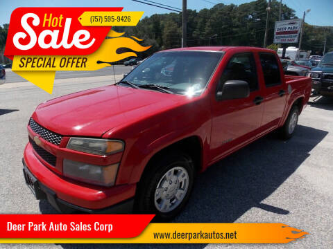 2004 Chevrolet Colorado for sale at Deer Park Auto Sales Corp in Newport News VA
