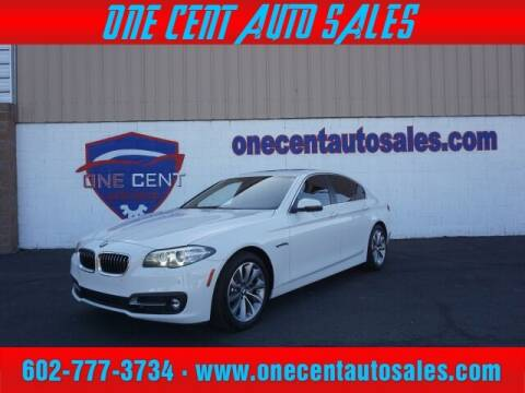 2016 BMW 5 Series for sale at One Cent Auto Sales in Glendale AZ