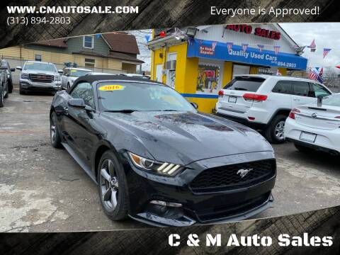 2016 Ford Mustang for sale at C & M Auto Sales in Detroit MI
