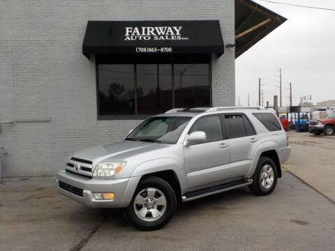 2003 Toyota 4Runner for sale at FAIRWAY AUTO SALES, INC. in Melrose Park IL