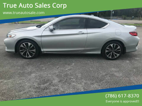 2017 Honda Accord for sale at True Auto Sales Corp in Miami FL