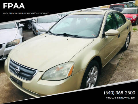 2004 Nissan Altima for sale at FPAA in Fredericksburg VA