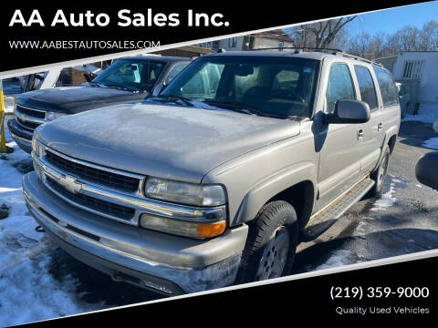 2004 Chevrolet Suburban for sale at AA Auto Sales Inc. in Gary IN