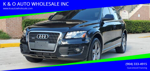 2012 Audi Q5 for sale at K & O AUTO WHOLESALE INC in Jacksonville FL