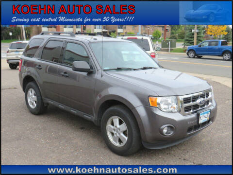 2012 Ford Escape for sale at Koehn Auto Sales in Lindstrom MN