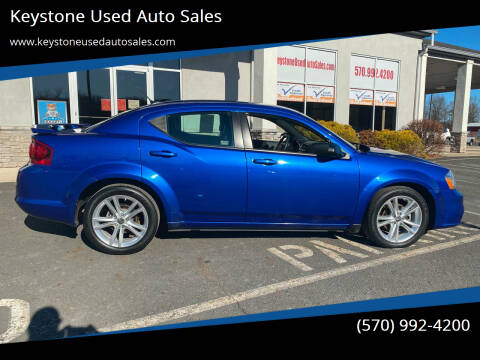 2012 Dodge Avenger for sale at Keystone Used Auto Sales in Brodheadsville PA