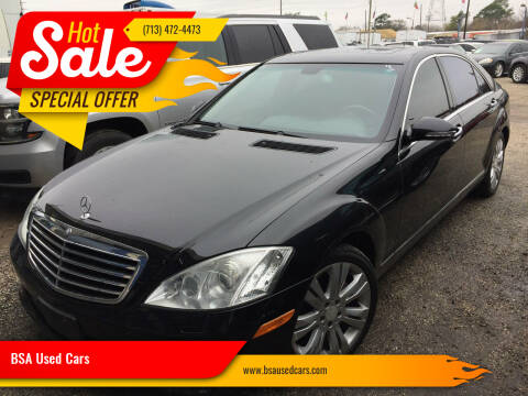 2008 Mercedes-Benz S-Class for sale at BSA Used Cars in Pasadena TX