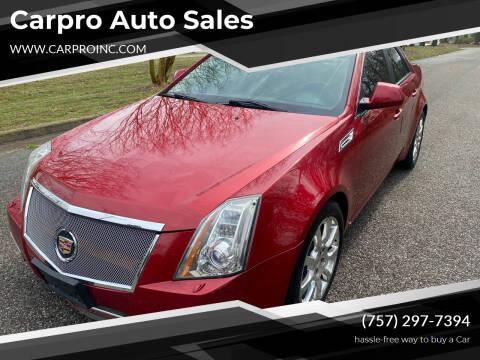 2009 Cadillac CTS for sale at Carpro Auto Sales in Chesapeake VA