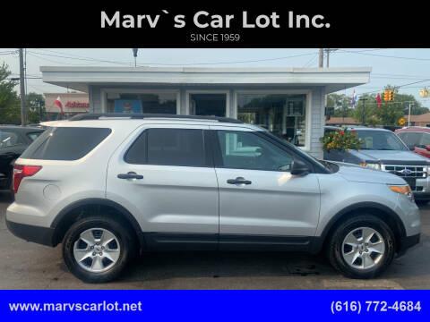 2012 Ford Explorer for sale at Marv`s Car Lot Inc. in Zeeland MI