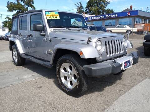 2015 Jeep Wrangler Unlimited for sale at All American Motors in Tacoma WA