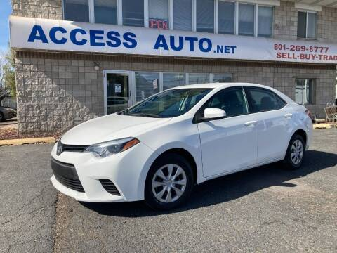 2014 Toyota Corolla for sale at Access Auto in Salt Lake City UT