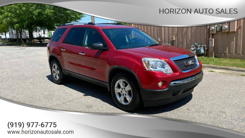 2012 GMC Acadia for sale at Horizon Auto Sales in Raleigh NC