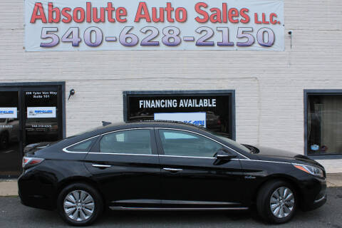 2016 Hyundai Sonata Hybrid for sale at Absolute Auto Sales in Fredericksburg VA