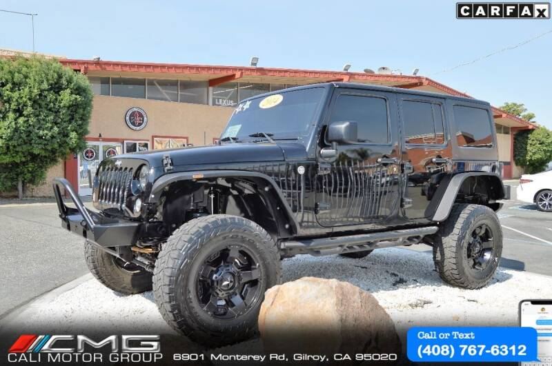 2014 Jeep Wrangler Unlimited for sale at Cali Motor Group in Gilroy CA