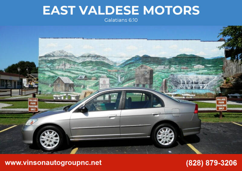 2005 Honda Civic for sale at EAST VALDESE MOTORS in Valdese NC