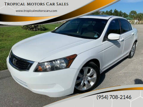 2008 Honda Accord for sale at Tropical Motors Car Sales in Deerfield Beach FL