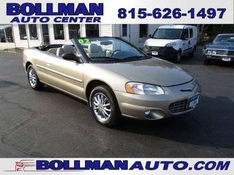 2002 Chrysler Sebring for sale at Bollman Auto Center in Rock Falls IL