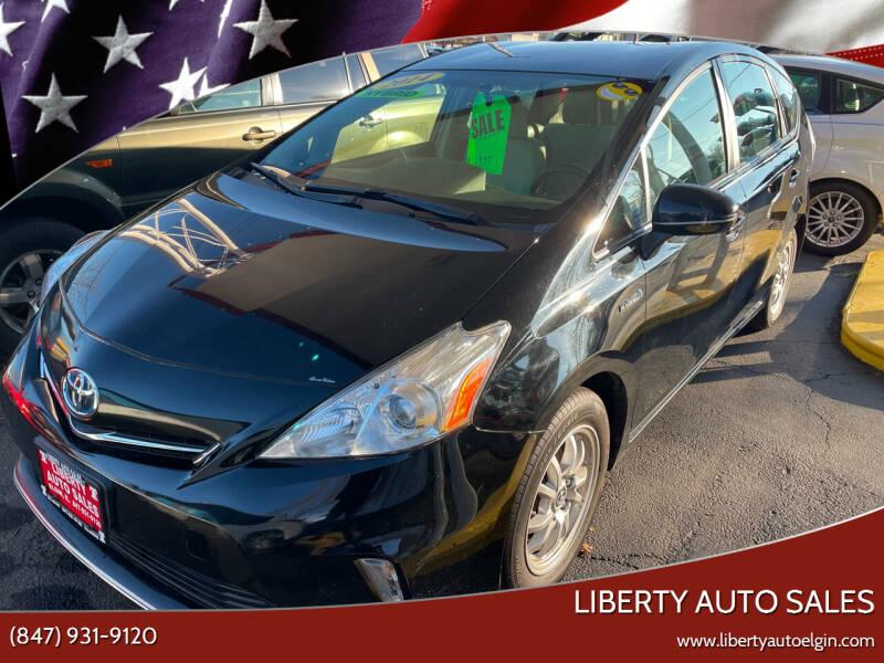 2014 Toyota Prius v for sale at Liberty Auto Sales in Elgin IL