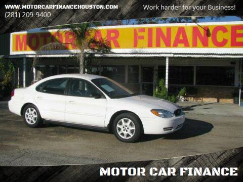 2006 Ford Taurus for sale at MOTOR CAR FINANCE in Houston TX