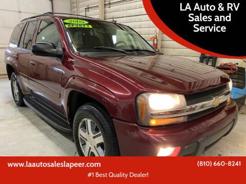2005 Chevrolet TrailBlazer for sale at LA Auto & RV Sales and Service in Lapeer MI
