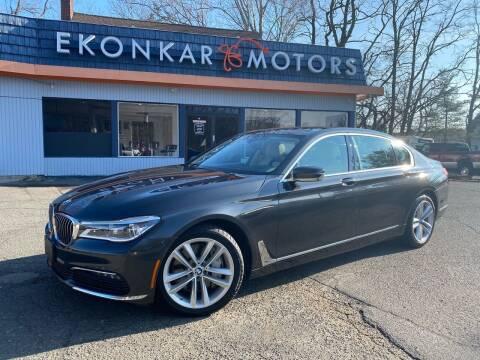 2016 BMW 7 Series for sale at Ekonkar Motors in Scotch Plains NJ
