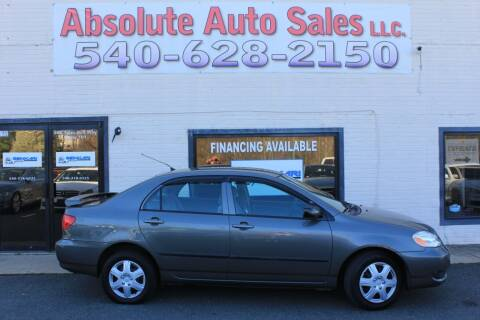 2006 Toyota Corolla for sale at Absolute Auto Sales in Fredericksburg VA