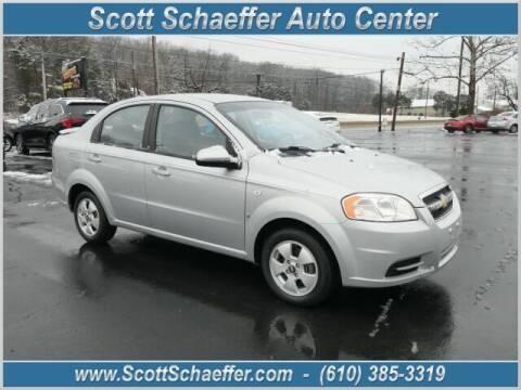 2007 Chevrolet Aveo for sale at Scott Schaeffer Auto Center in Birdsboro PA
