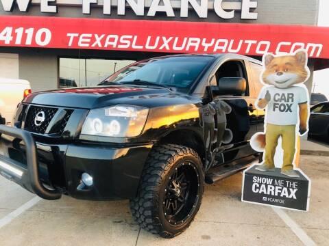 2012 Nissan Titan for sale at Texas Luxury Auto in Cedar Hill TX
