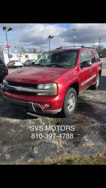 2002 Chevrolet TrailBlazer for sale at SVS Motors in Mount Morris MI