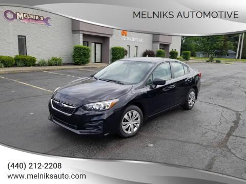 2019 Subaru Impreza for sale at Melniks Automotive in Berea OH